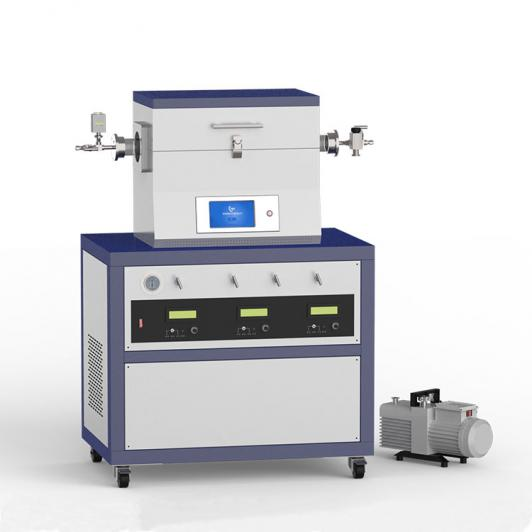 1200℃ single heating zone low vacuum CVD system with 3-channel mass flow meter CY-O1200-50IT-3Z-LV