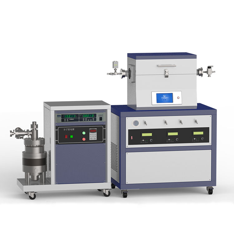 1200℃ single heating zone high vacuum CVD system with 3-channel mass flow meter CY-O1200-50IT-3Z-HV