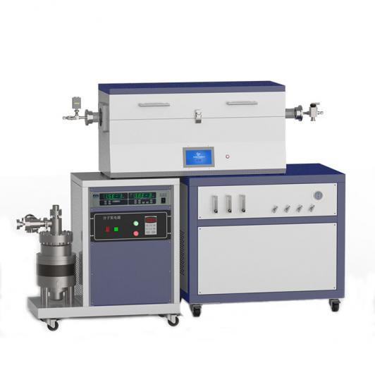 1200℃ three heating zone high vacuum CVD system with 3-channel float flowmeter to supply gas CY-O1200-50IIIT-3F-HV