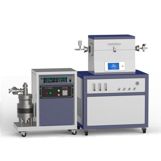 1200℃ single heating zone high vacuum CVD system with 3-channel float flowmeter to supply gas CY-O1200-50IT-3F-HV