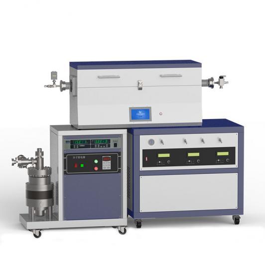 1200℃ three heating zone high vacuum CVD system with 3-channel mass flow meter CY-O1200-50IIIT-3Z-HV