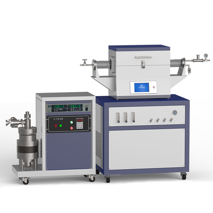 1200℃ two heating zone high vacuum CVD system with 3-channel float flow meter to supply gas CY-O1200-50IIT-3F-HV