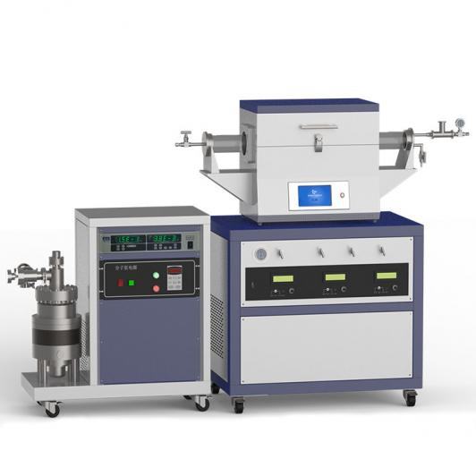 1200℃ two heating zone high vacuum CVD system with 3-channel mass flow meter CY-O1200-50IIT-3Z-HV