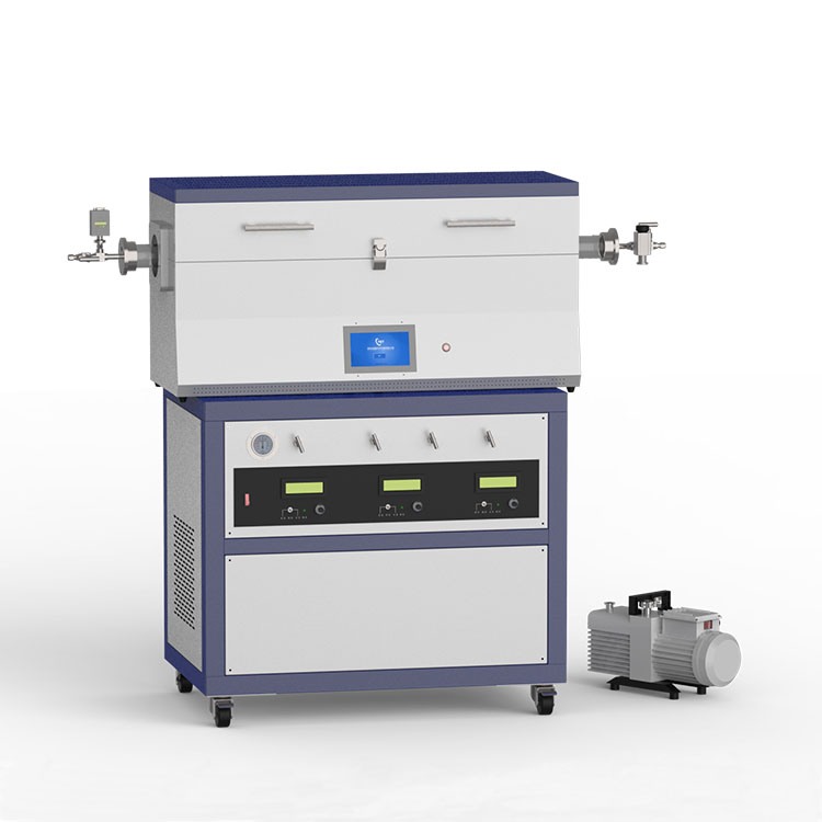 1200℃ three heating zone low vacuum CVD system with 3-channel mass flow meter CY- O1200-50IIIT-3Z-LV