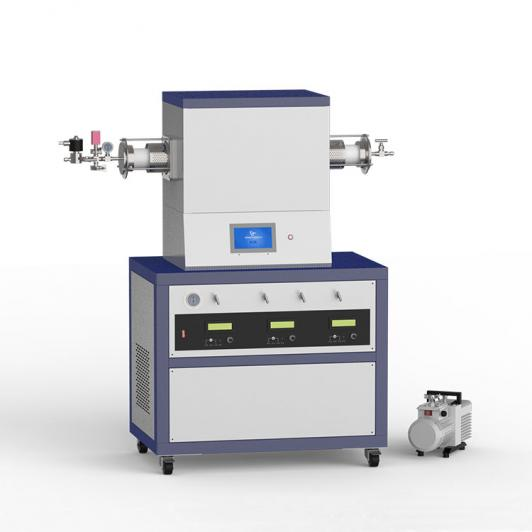 1500℃ single heating zone low vacuum CVD system with 3-channel mass flowmeter