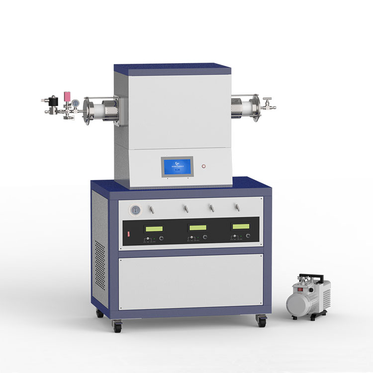 1500℃ single heating zone low vacuum CVD system with 3-channel mass flowmeter CY-O1500-60IT-3Z-LV