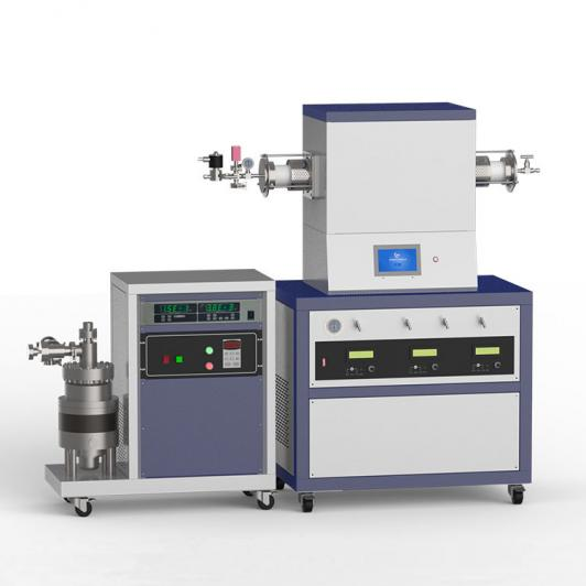 1500℃ single heating zone high vacuum CVD system with 3-channel mass flow meter