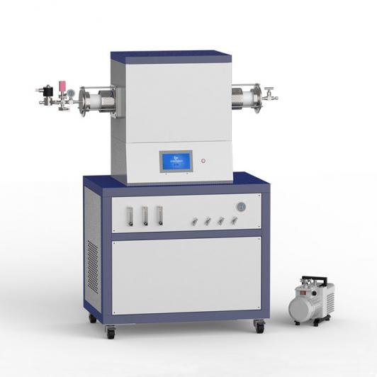 1500℃ single heating zone low vacuum CVD system with 3-channel float flowmeter to supply gas