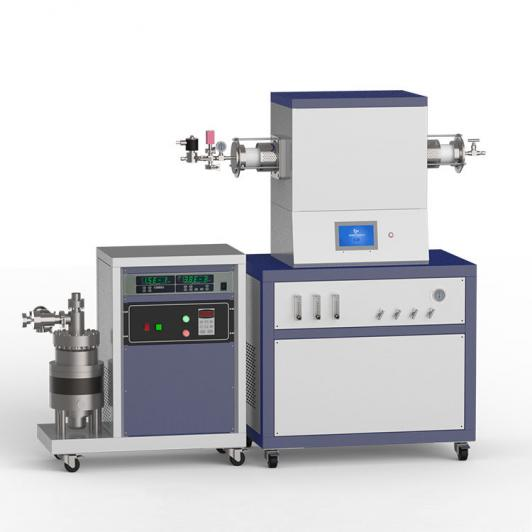 1500℃ single heating zone high vacuum CVD system with 3-channel float flow meter to supply gas
