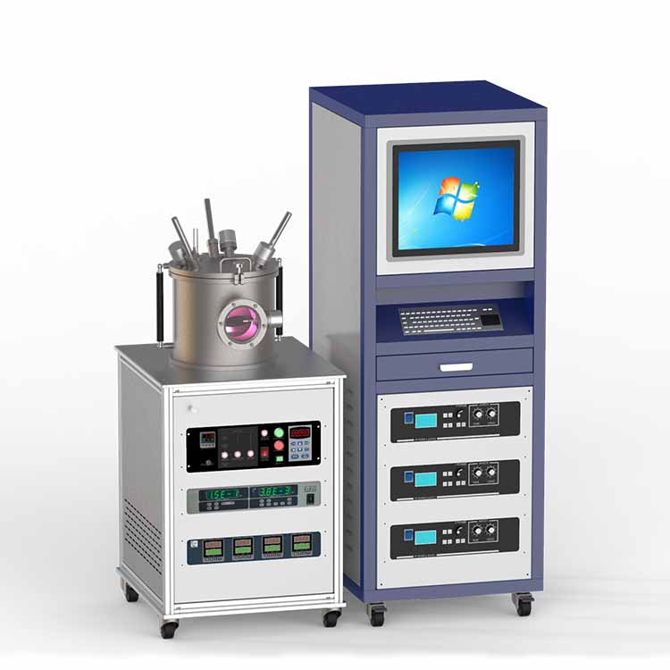 Three targets RF magnetron sputtering coater CY-MSP300S-3RF