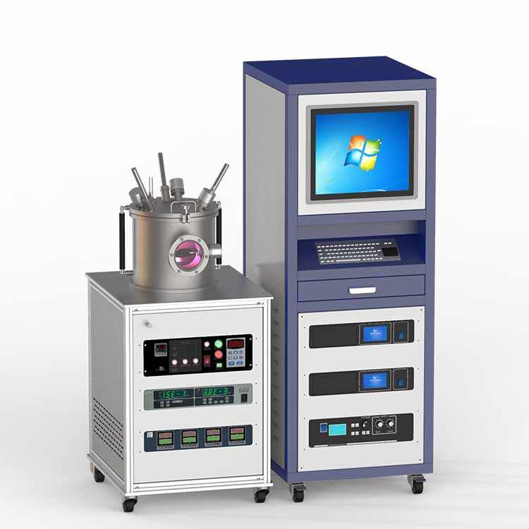 Three targets magnetron sputtering coater (with DC&RF power supply)
