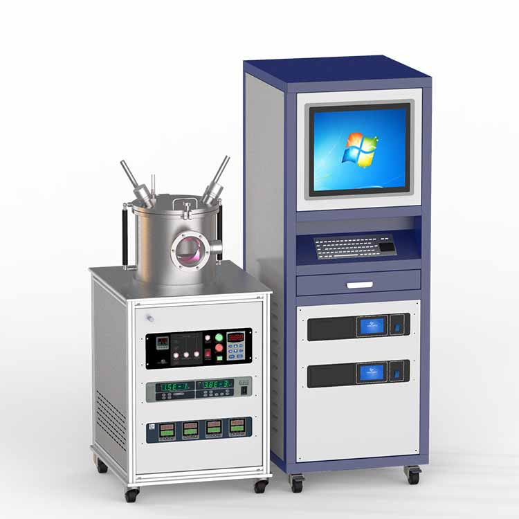 Dual-target DC magnetron sputtering coater (500W)