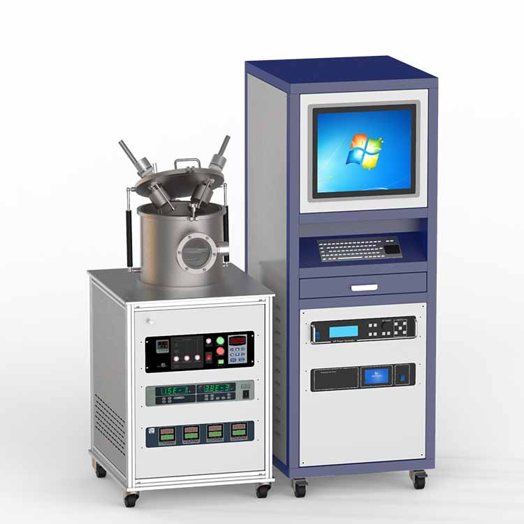 Dual-target magnetron sputtering coater (with RF&DC power supply)