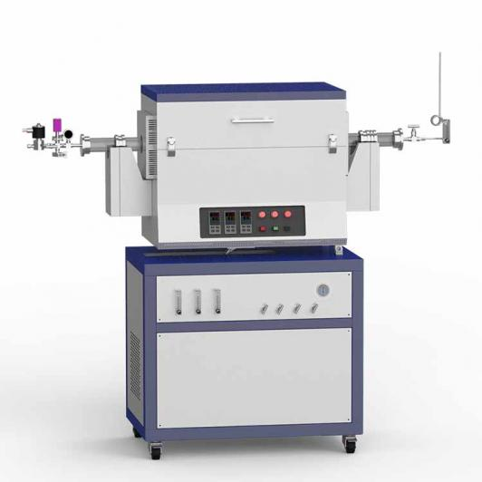 1200℃ low vacuum rotary CVD system with 3-channel float flowmeter CY-O1200-60IIIC-R